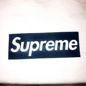 New York Yankee Supreme Box Logo White Tee